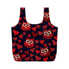 Owl You Need In Love Owls Full Print Recycle Bags (m)  by BubbSnugg