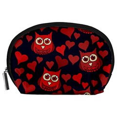 Owl You Need In Love Owls Accessory Pouches (large)