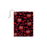 Owl You Need In Love Owls Drawstring Pouches (XS)  Back