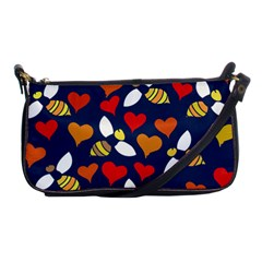 Honey Bees In Love Shoulder Clutch Bags by BubbSnugg