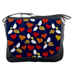 Honey Bees In Love Messenger Bags by BubbSnugg