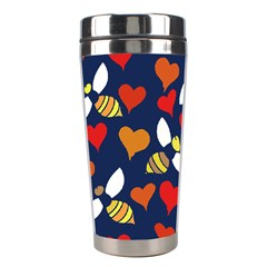 Honey Bees In Love Stainless Steel Travel Tumblers by BubbSnugg