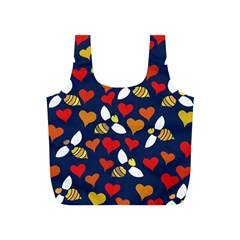 Honey Bees In Love Full Print Recycle Bags (s)  by BubbSnugg