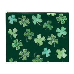 Lucky Shamrocks Cosmetic Bag (xl) by BubbSnugg