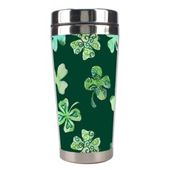 Lucky Shamrocks Stainless Steel Travel Tumblers by BubbSnugg