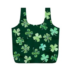 Lucky Shamrocks Full Print Recycle Bags (m)  by BubbSnugg