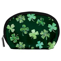 Lucky Shamrocks Accessory Pouches (large)  by BubbSnugg