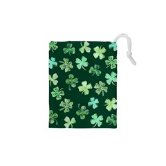 Lucky Shamrocks Drawstring Pouches (xs)  by BubbSnugg
