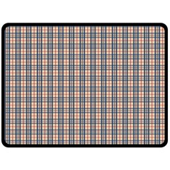 Chequered Plaid Fleece Blanket (large)  by olgart