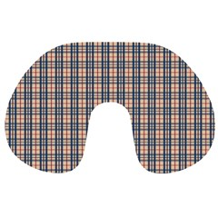 Chequered Plaid Travel Neck Pillows by olgart