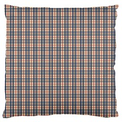 Chequered Plaid Large Flano Cushion Case (two Sides) by olgart