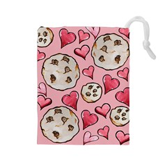 Chocolate Chip Cookies Drawstring Pouches (large)
