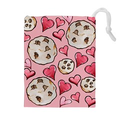 Chocolate Chip Cookies Drawstring Pouches (extra Large) by BubbSnugg