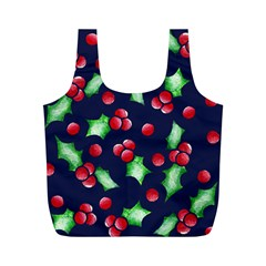 Holly Jolly Christmas Full Print Recycle Bags (m)