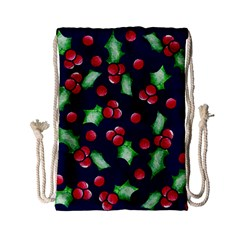 Holly Jolly Christmas Drawstring Bag (small)