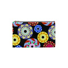 Colorful Retro Circular Pattern Cosmetic Bag (small)