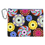 Colorful Retro Circular Pattern Canvas Cosmetic Bag (XXL)