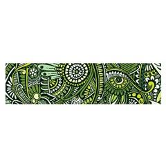 Green Boho Flower Pattern Zz0105 Satin Scarf (oblong) by Zandiepants