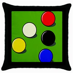 Billiard  Throw Pillow Case (black) by Valentinaart