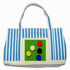 Billiard  Striped Blue Tote Bag by Valentinaart