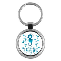 Seahorsesb Key Chains (round)  by vanessagf