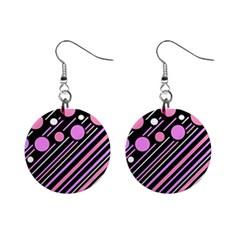 Purple Transformation Mini Button Earrings by Valentinaart