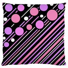 Purple Transformation Standard Flano Cushion Case (one Side) by Valentinaart