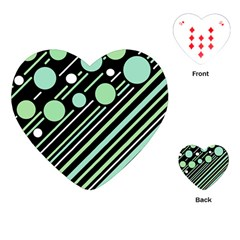 Green Transformaton Playing Cards (heart)  by Valentinaart