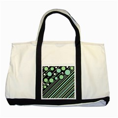 Green Transformaton Two Tone Tote Bag by Valentinaart