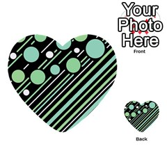 Green Transformaton Multi Purpose Cards (heart)  by Valentinaart
