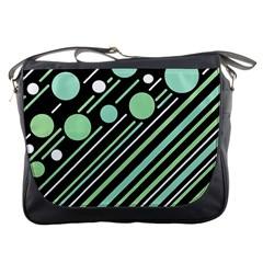 Green Transformaton Messenger Bags by Valentinaart