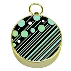 Green Transformaton Gold Compasses by Valentinaart