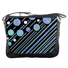 Blue Transformation Messenger Bags by Valentinaart