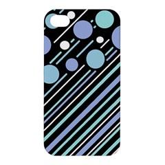 Blue Transformation Apple Iphone 4/4s Premium Hardshell Case by Valentinaart