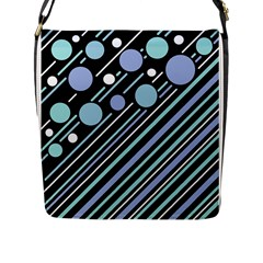 Blue Transformation Flap Messenger Bag (l)  by Valentinaart