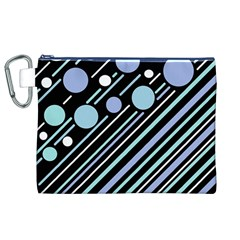 Blue Transformation Canvas Cosmetic Bag (xl) by Valentinaart