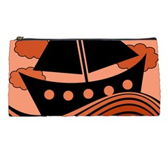 Boat   Red Pencil Cases by Valentinaart
