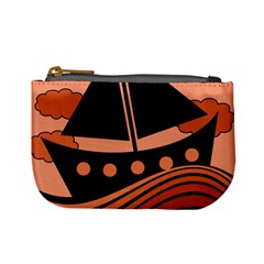 Boat   Red Mini Coin Purses by Valentinaart