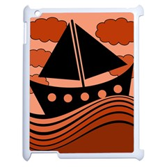 Boat   Red Apple Ipad 2 Case (white) by Valentinaart