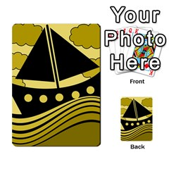 Boat   Yellow Multi Purpose Cards (rectangle)