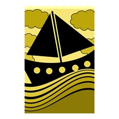 Boat   Yellow Shower Curtain 48  X 72  (small)  by Valentinaart