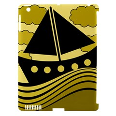 Boat   Yellow Apple Ipad 3/4 Hardshell Case (compatible With Smart Cover) by Valentinaart