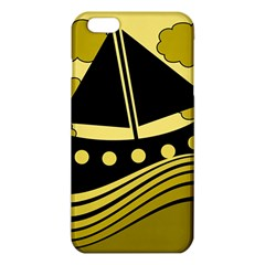 Boat   Yellow Iphone 6 Plus/6s Plus Tpu Case by Valentinaart