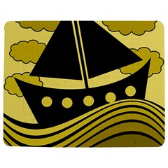 Boat - yellow Jigsaw Puzzle Photo Stand (Rectangular) by Valentinaart