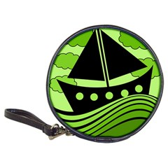 Boat   Green Classic 20 Cd Wallets by Valentinaart