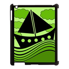 Boat   Green Apple Ipad 3/4 Case (black) by Valentinaart