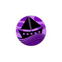 Boat   Purple Golf Ball Marker by Valentinaart