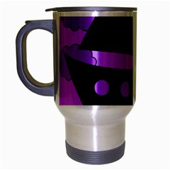 Boat - purple Travel Mug (Silver Gray) by Valentinaart