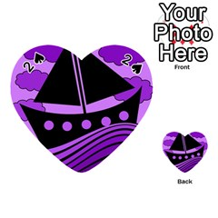 Boat   Purple Playing Cards 54 (heart)