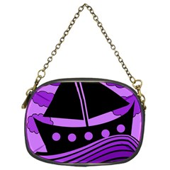 Boat   Purple Chain Purses (one Side)  by Valentinaart
